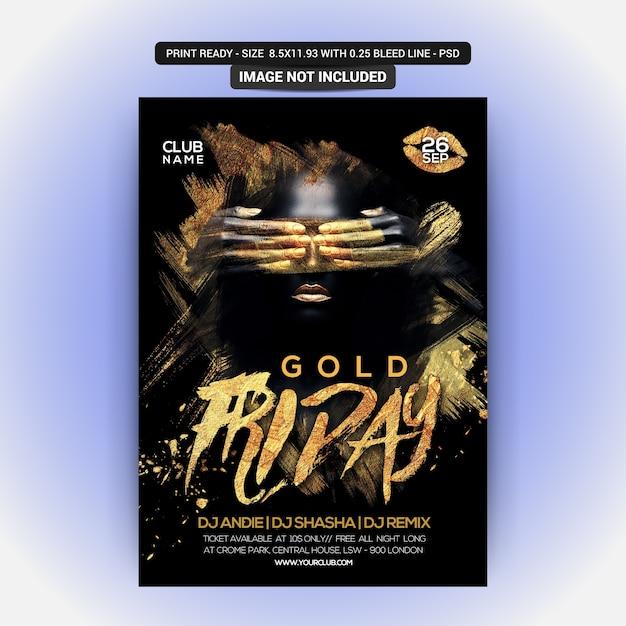 Gold night party Premium Psd