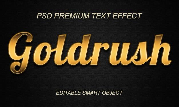 Золотая лихорадка дизайн с эффектом текста Premium Psd