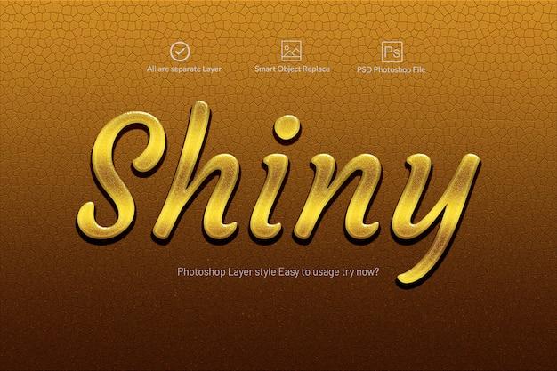 Gold shiny 3d text effect Premium Psd