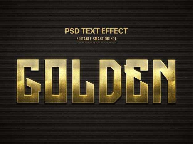 Golden 3d text style effect Premium Psd