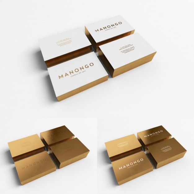 Golden business card design Free Psd