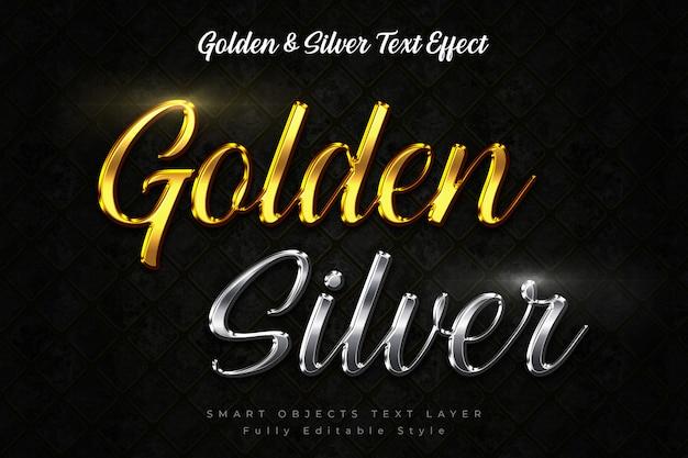 Golden text-effect & silver text-effect Premium Psd