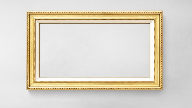 Goldpicture frame mockup Premium Psd