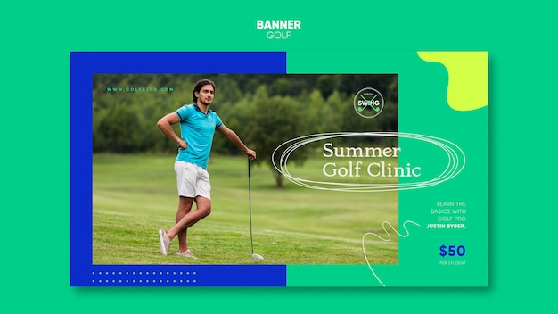 골프 개념 배너 서식 파일 무료 PSD 파일