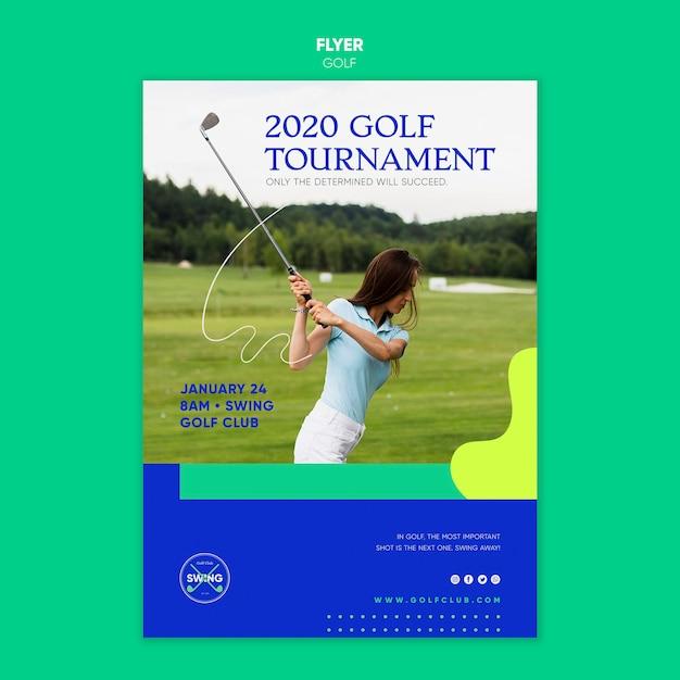 골프 컨셉 플라이어 템플릿 무료 PSD 파일