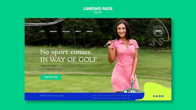 골프 개념 방문 페이지 템플릿 무료 PSD 파일
