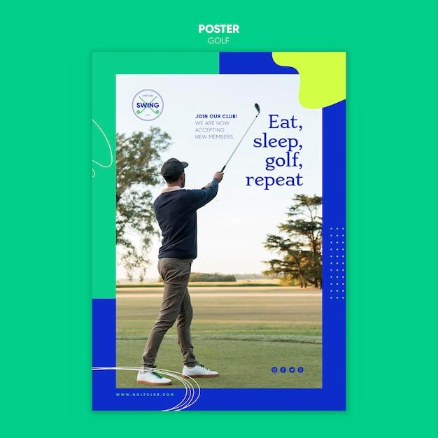 골프 컨셉 포스터 템플릿 무료 PSD 파일
