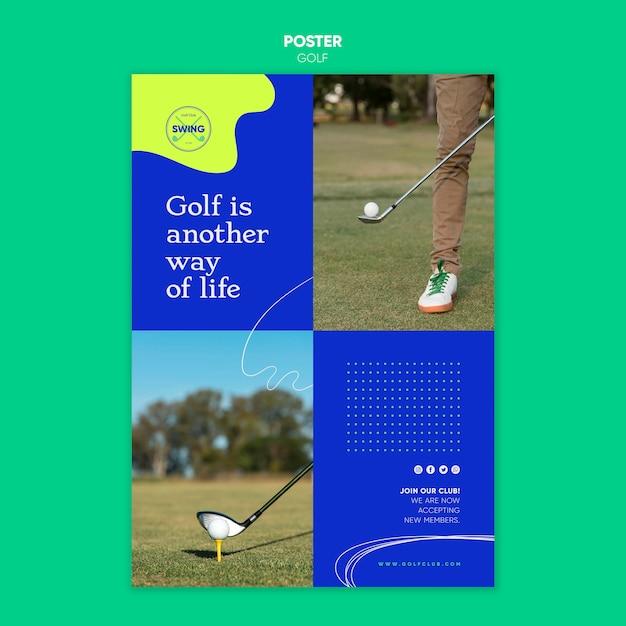 골프 컨셉 포스터 템플릿 프리미엄 PSD 파일