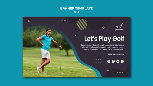 골프 게임 배너 템플릿 디자인 무료 PSD 파일