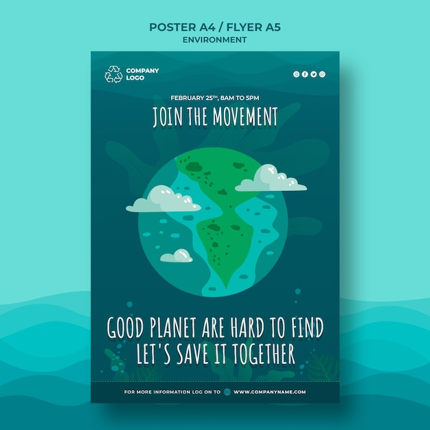 Good planets are hard to find poster template Free Psd