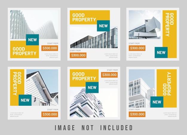 Good property sale instagram post template design Premium Psd