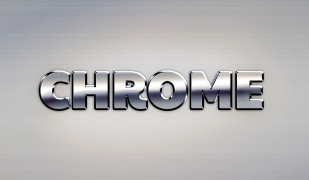 Google chrome metal text effect Free Psd