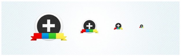 Googleはプラス(+)円形アイコンセット 無料 Psd