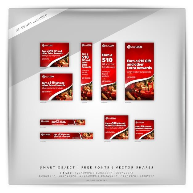 クリスマスセールgoogleバナーセット Premium Psd