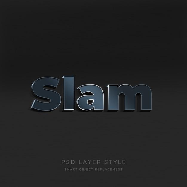 Gradient 3d text effect Premium Psd
