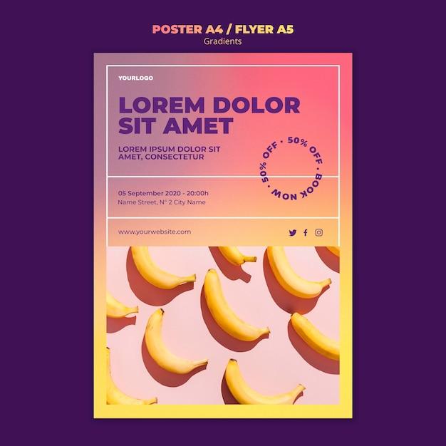 그라데이션 디자인 포스터 템플릿 무료 PSD 파일
