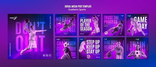 광고 템플릿-그라디언트 스포츠 소셜 미디어 무료 PSD 파일