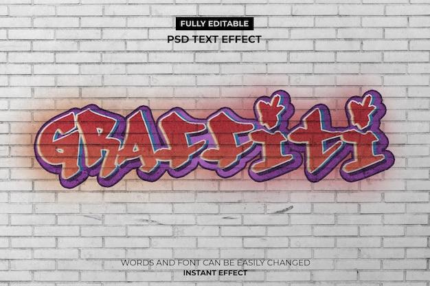 Effetto di testo graffiti Psd Gratuite