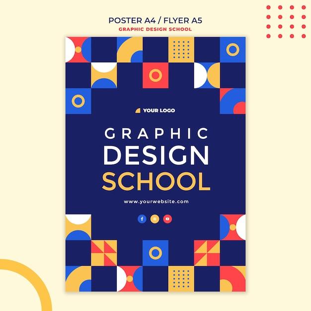 그래픽 디자인 학교 전단지 서식 파일 무료 PSD 파일