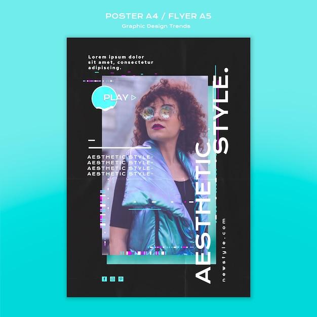 그래픽 디자인 트렌드 포스터 테마 무료 PSD 파일