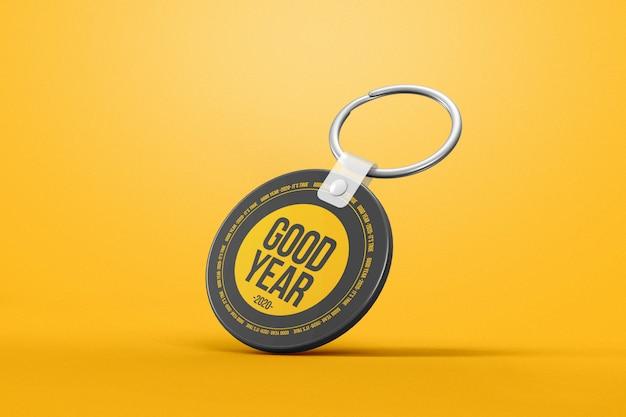 Gravity circle keychain mockup Premium Psd