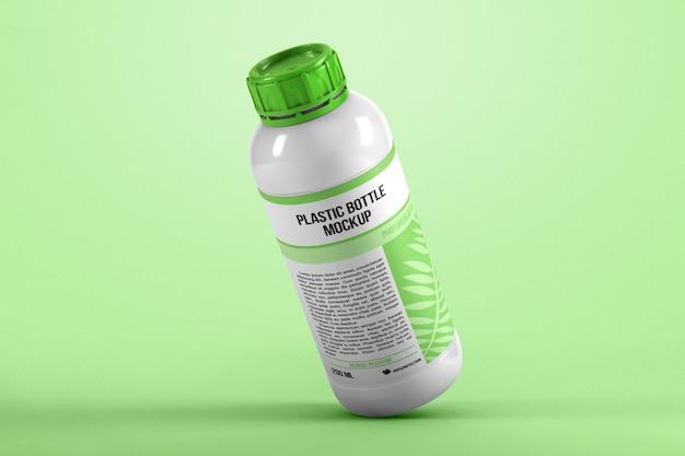 Gravity plastic bottle mockup
