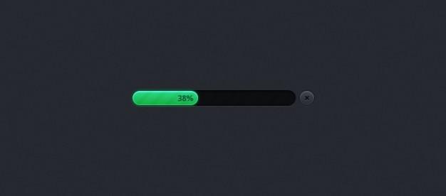 Free PSD   Green bar progress bar psd