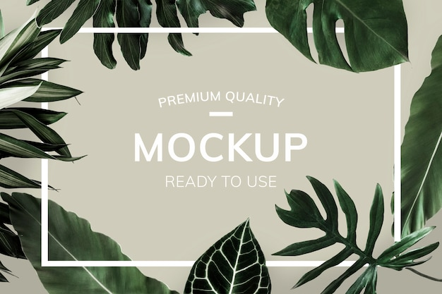 Green botanical leaves Premium Psd