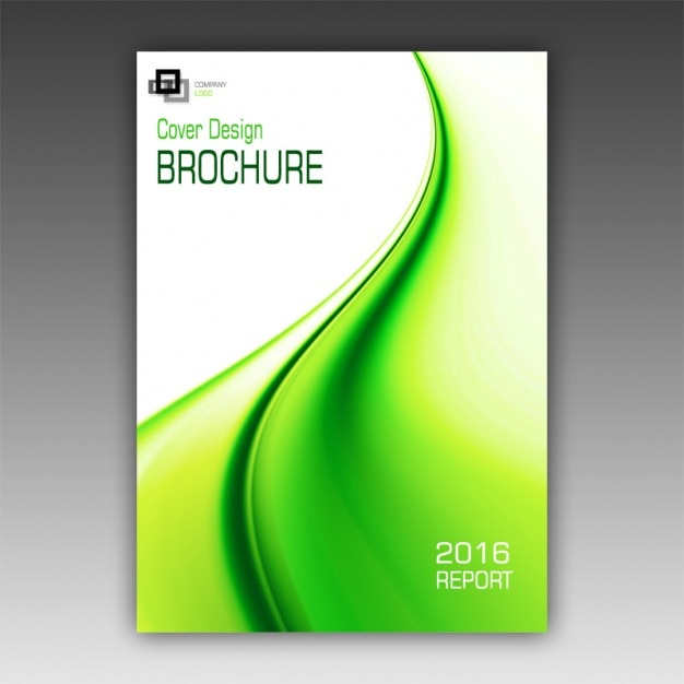 Green brochure template psd file free download for Free psd brochure template