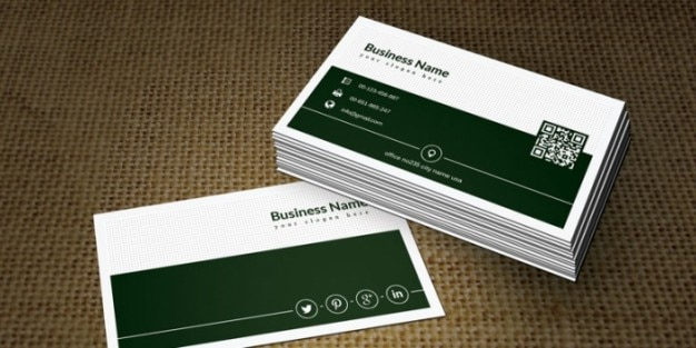 Green business card design psd psd file free download green business card design psd free psd reheart Images