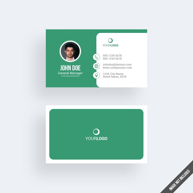 Green business card mockup with calendar psd file premium download green business card mockup with calendar premium psd reheart Choice Image
