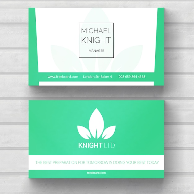 Green business card nature theme psd file free download green business card nature theme free psd reheart Images