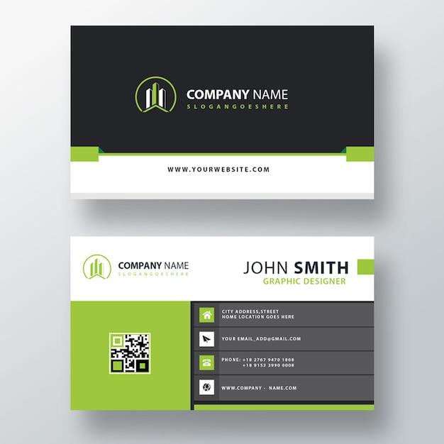 Green business card template Free Psd