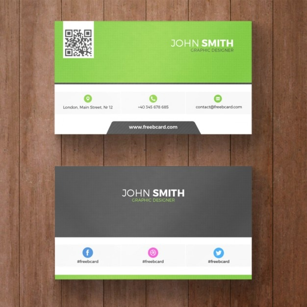Green business card Free Psd