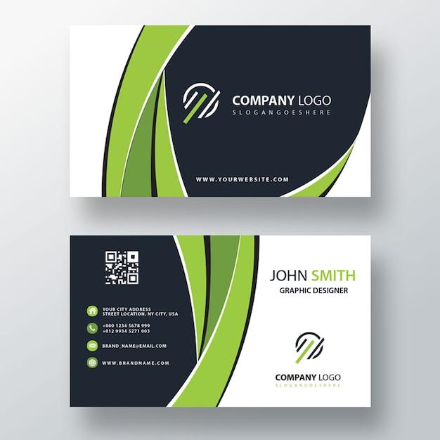 Green corporate card mockup Free Psd