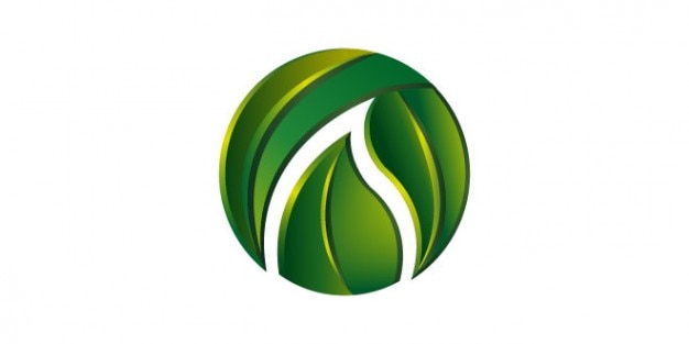 green leaves logo template psd file free download