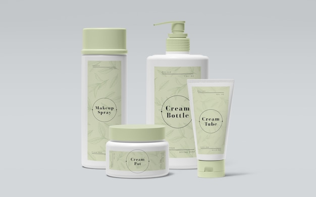 Green packaging of cosmetic products Free Psd