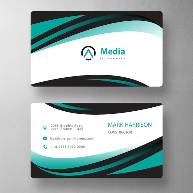 Green shape business card mockup Free Psd