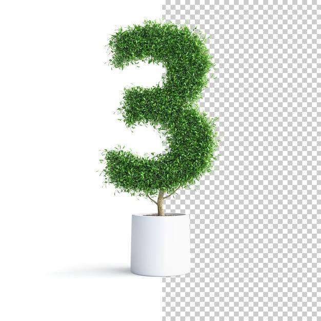 Зеленое дерево номер 3 Premium Psd