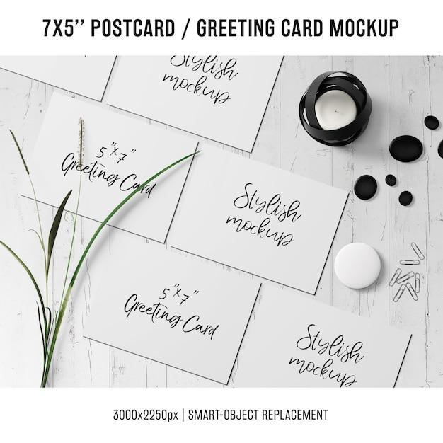 Макет поздравительной открытки Бесплатные Psd