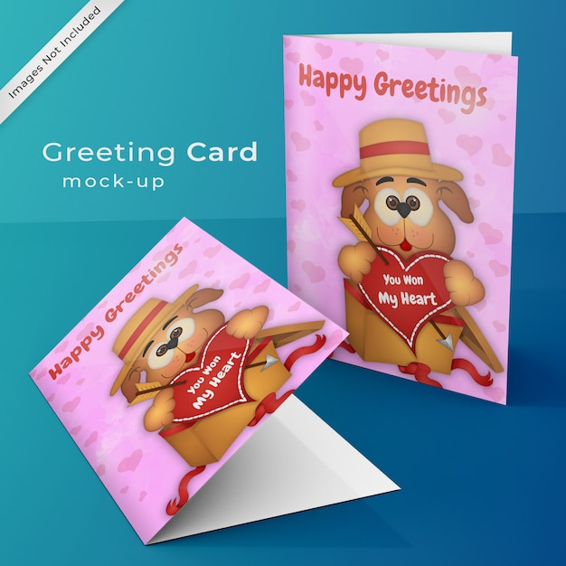 Greeting card mock up Premium Psd