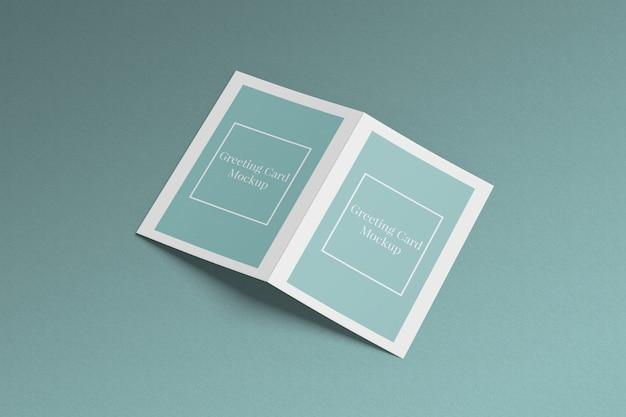 Макет поздравительной открытки Premium Psd