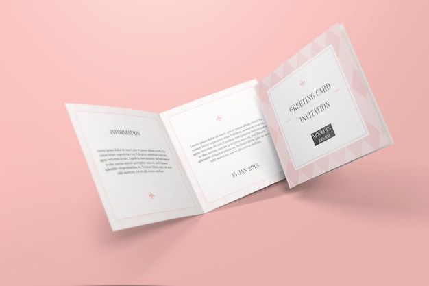 Greeting Card Mockup Premium Psd