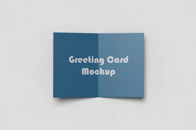 Greeting/invitation card mockup Premium Psd