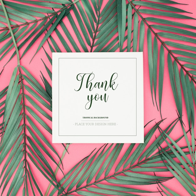 Greeting tropical card Free Psd
