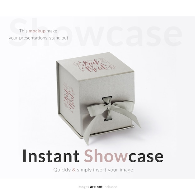 Grey gift box mock up Free Psd