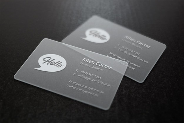 Grey mockup business cards Free Psd