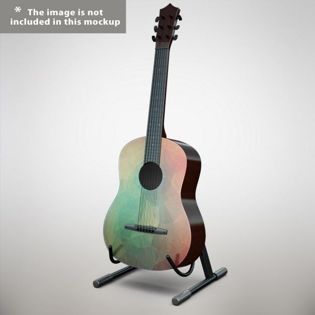 Guitar mock up design Free Psd