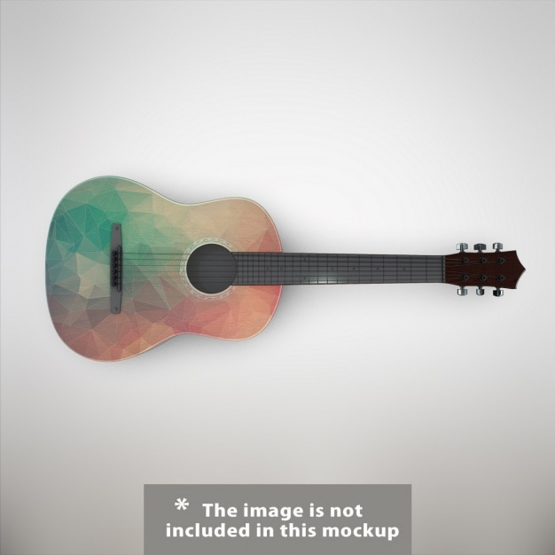 Guitar mock up design Free Psd
