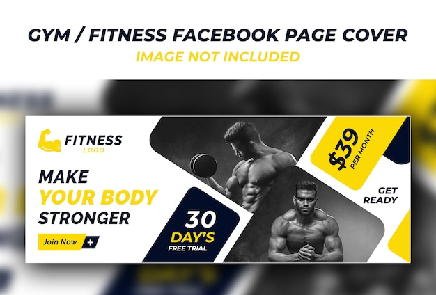 Gym fitness facebook cover template PSD file   Premium ...